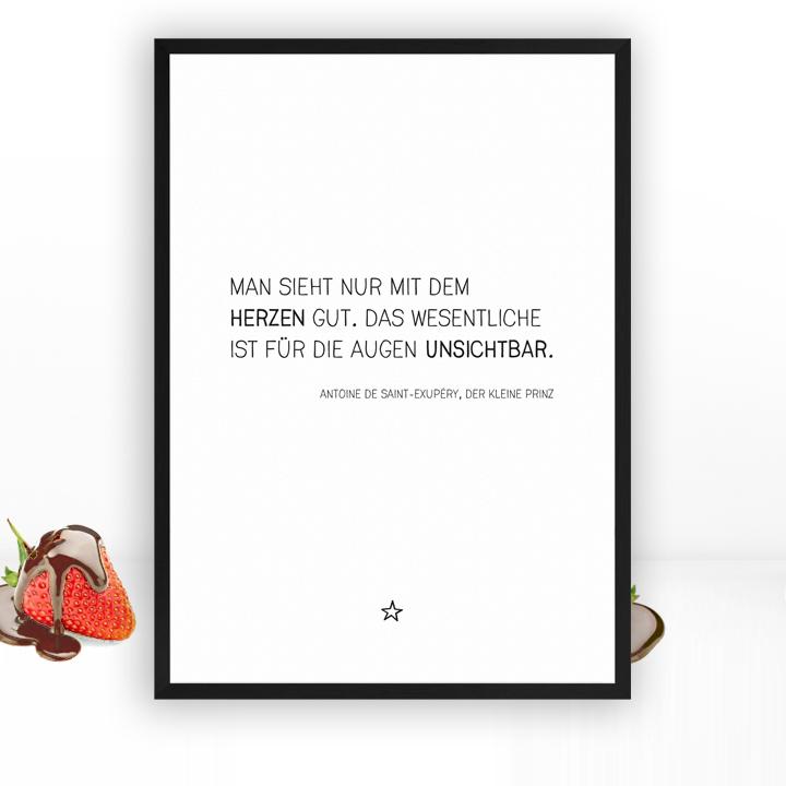 Der Kleine Prinz Zitat Bezaubernder Kunstdruck