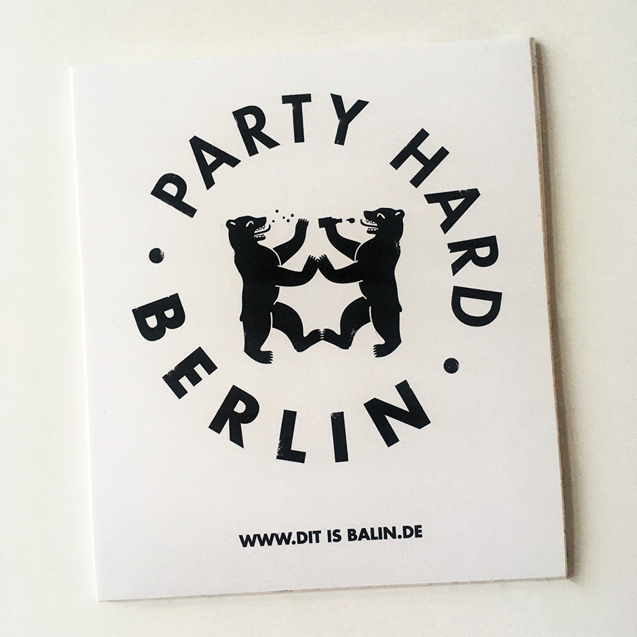 Party Hard  | PartyHard Sticker | Artikelnummer: StPHS