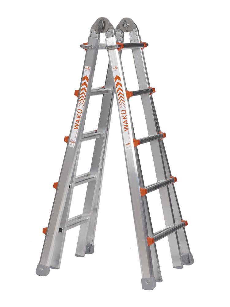 3-5 Alu.Teleskopleiter Ausziehbar Stehleiter Anlegeleiter Mehrzweckleiter-billig
