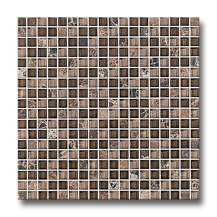 Mosaik Naturstein Glas Braun Badezimmer Netzverklebt ...