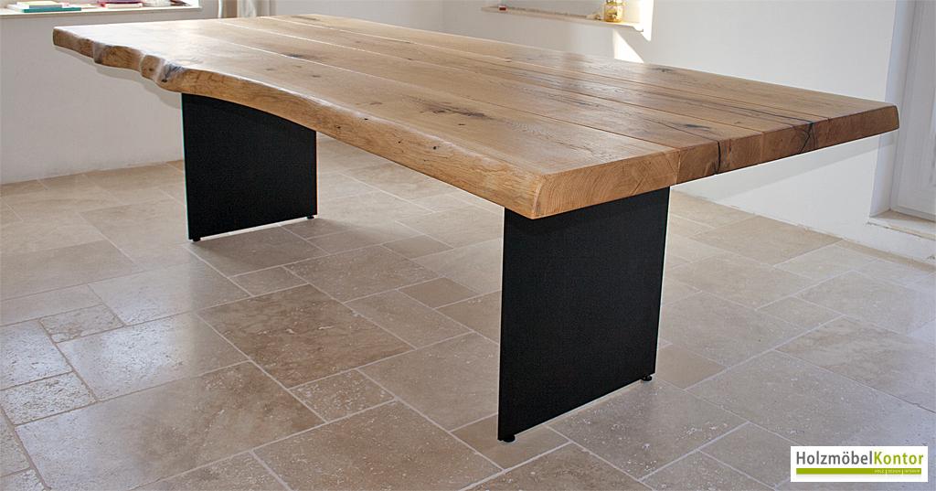Esstisch eiche  Tisch | Baumkante | Stammbohlen | holzmoebelkontor.de