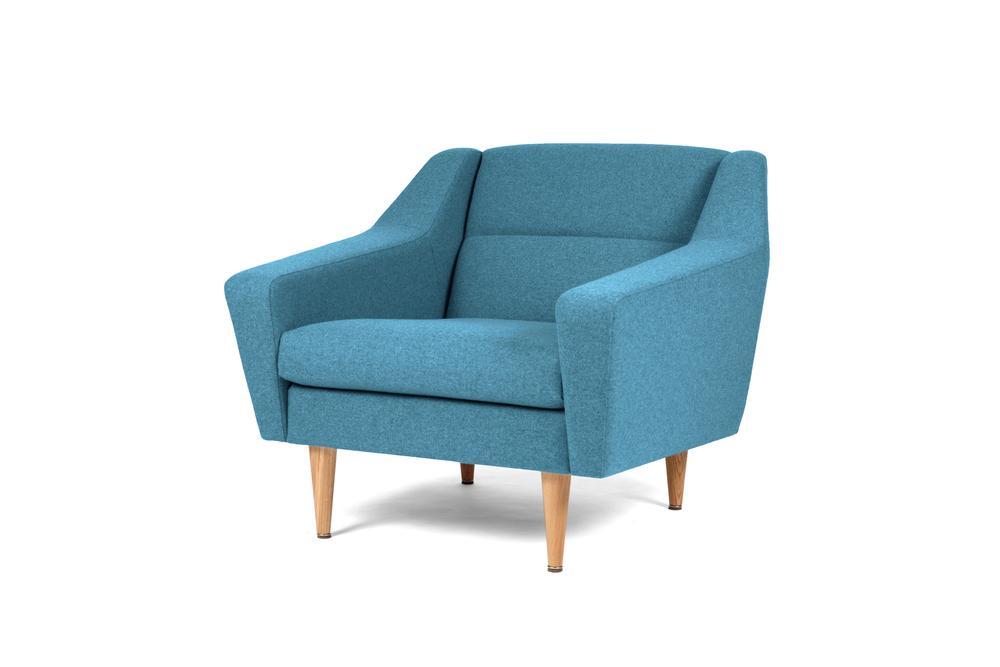 lounge sessel cosmo im retro look blau. Black Bedroom Furniture Sets. Home Design Ideas