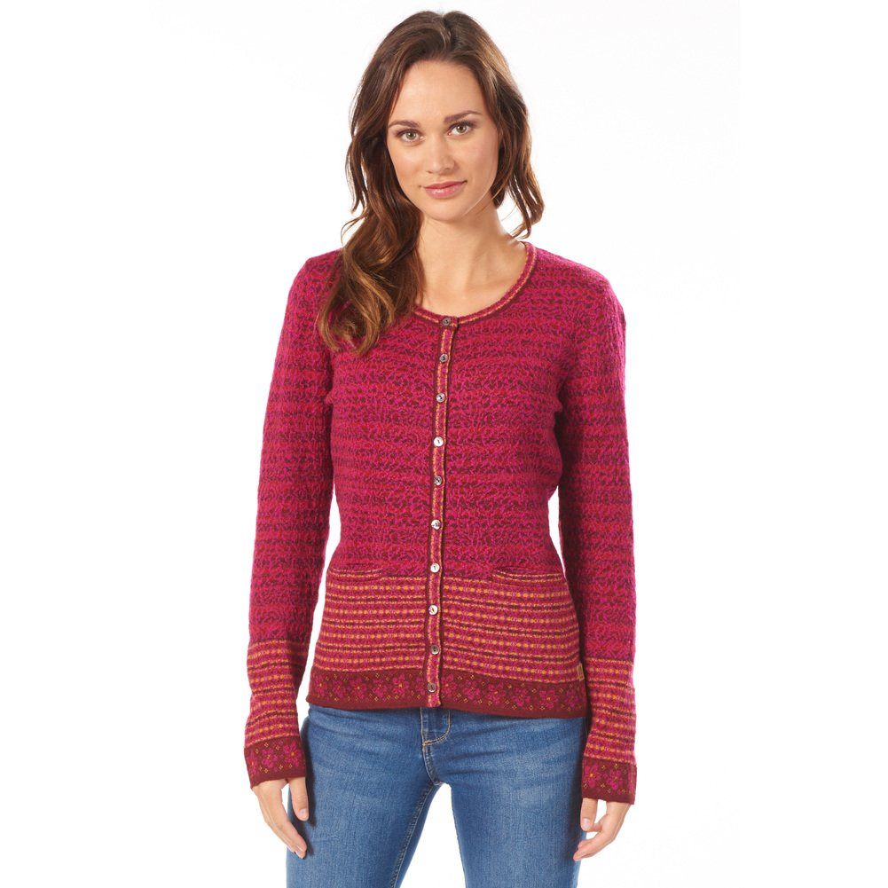 Cardigan 'Tini' bordeaux