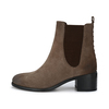 CRICKIT-Chelsea Boot Stiefelette-RAHEL Suede Taupe mit Braun