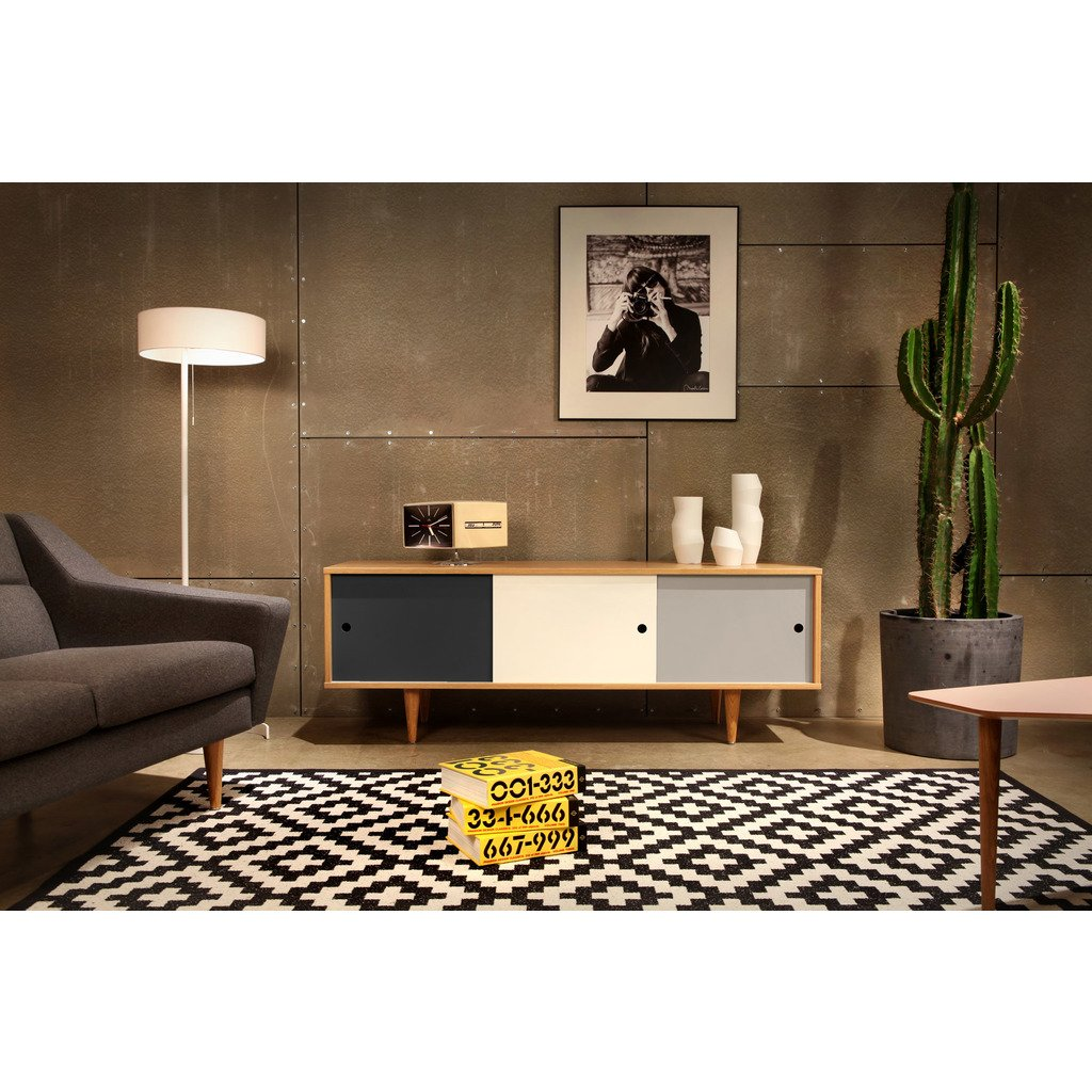 sideboard mit schiebet ren skandinavisch. Black Bedroom Furniture Sets. Home Design Ideas