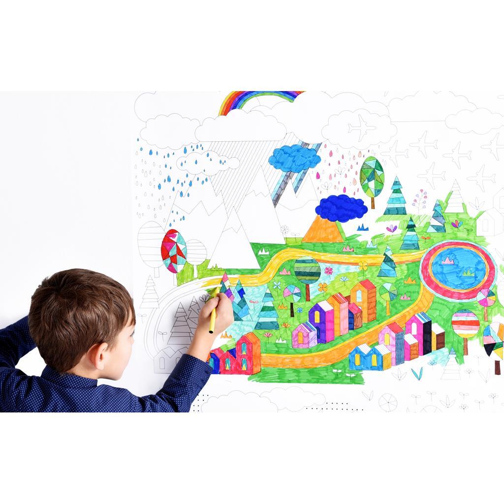 Kinderzimmer tapete zum ausmalen landschaften - Kinderzimmer ausmalen ...
