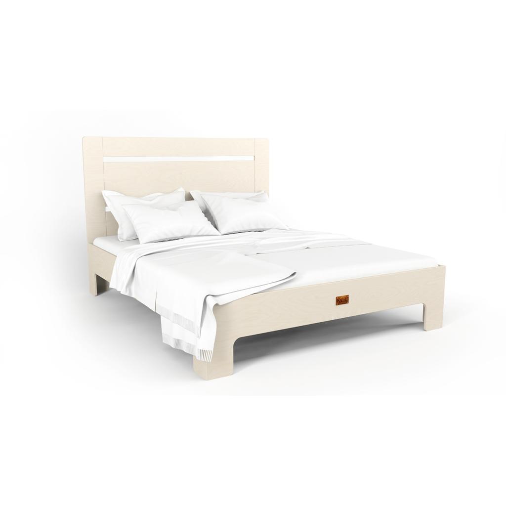 Bett Tu L Aus Massivholz In Weiss 180x200 Cm