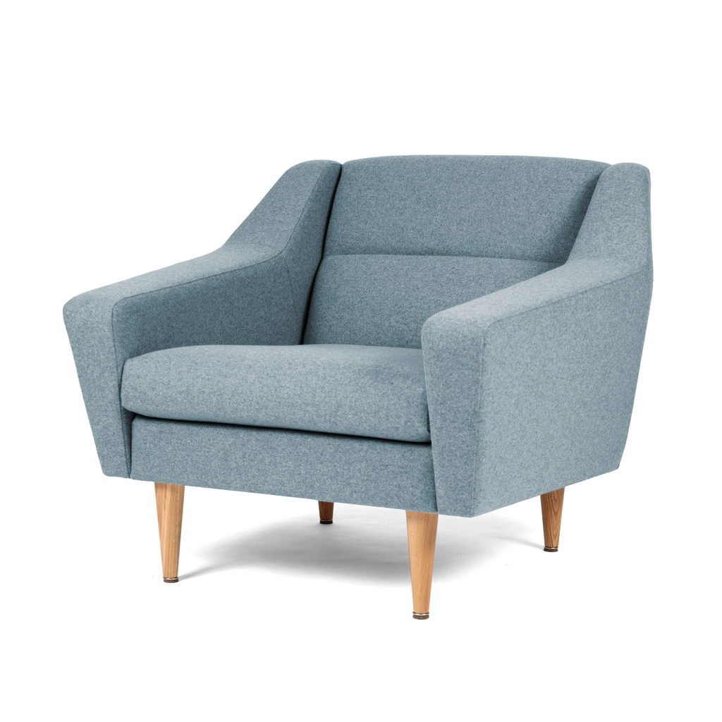 Sessel Lounge blau design