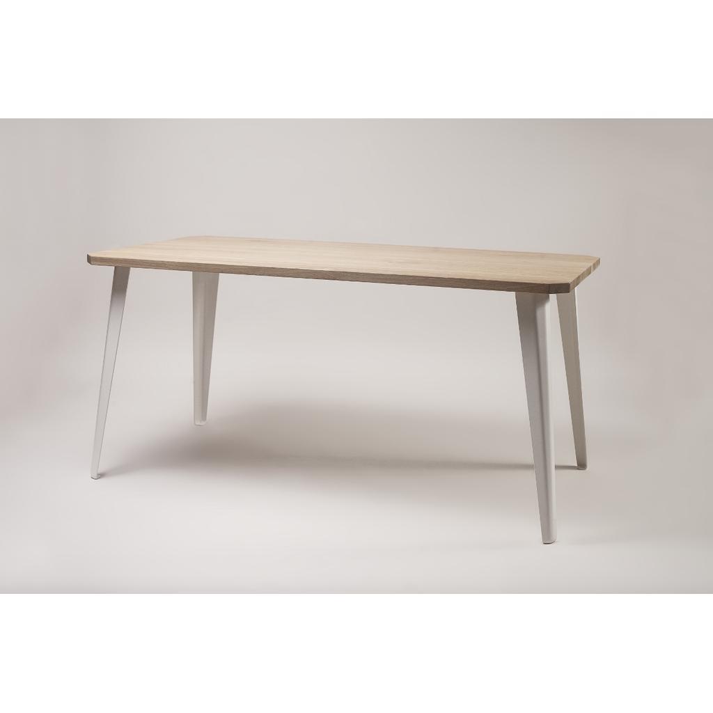Esstisch Holz Metall Weiss 90x200 Cm Kaufen