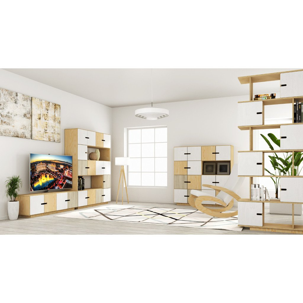 tv board aus birkenholz skandinavisches design. Black Bedroom Furniture Sets. Home Design Ideas