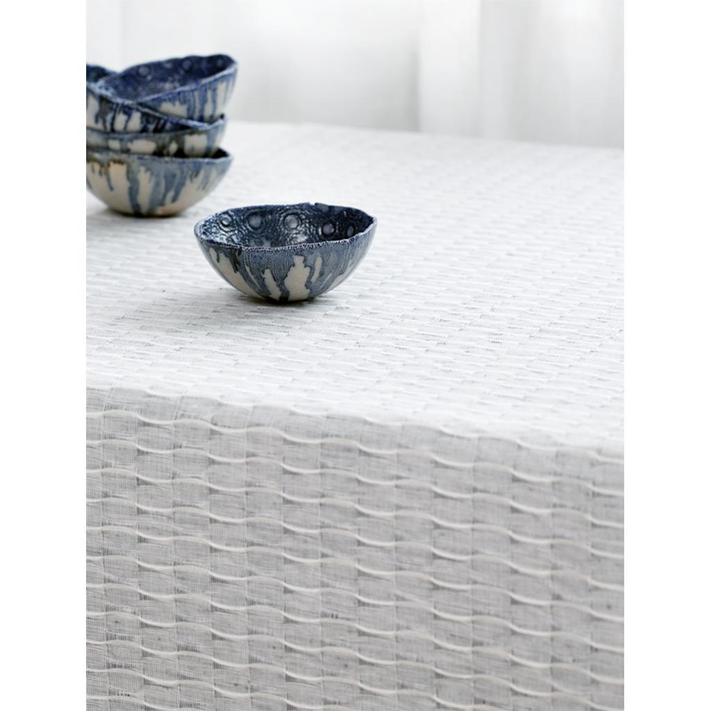 tischdecke aus leinen baumwolle in grau 140x210. Black Bedroom Furniture Sets. Home Design Ideas
