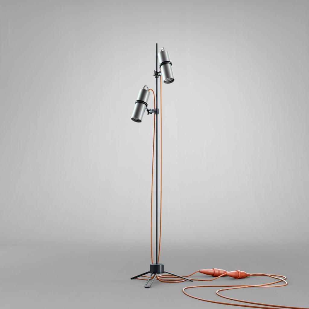 Stehlampe Im Industrie Look Led Halogen