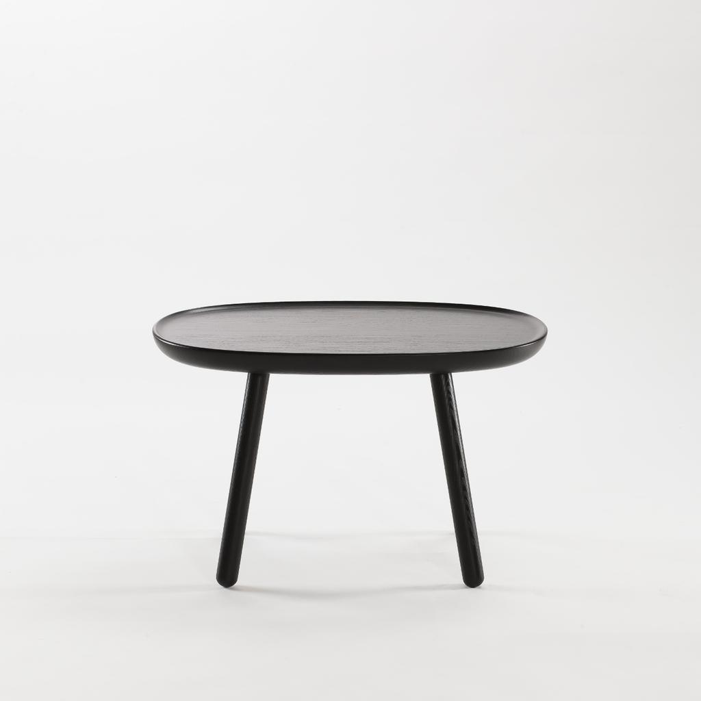 beistelltisch oval aus holz schwarz emko. Black Bedroom Furniture Sets. Home Design Ideas