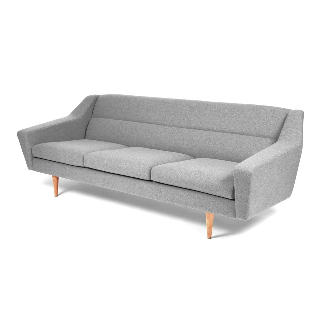 Sofa skandinavisches Design grau