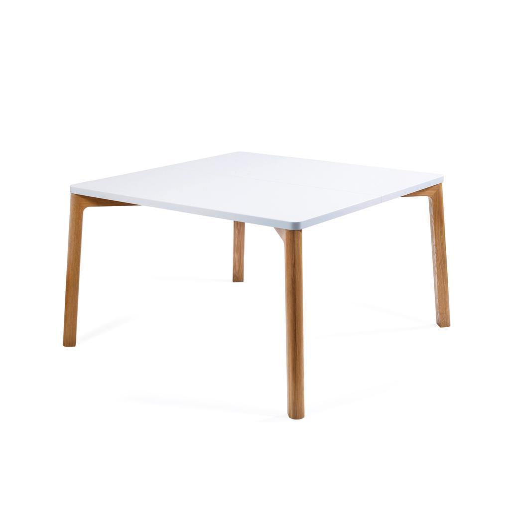 esstisch in wei und holz 120 cm. Black Bedroom Furniture Sets. Home Design Ideas