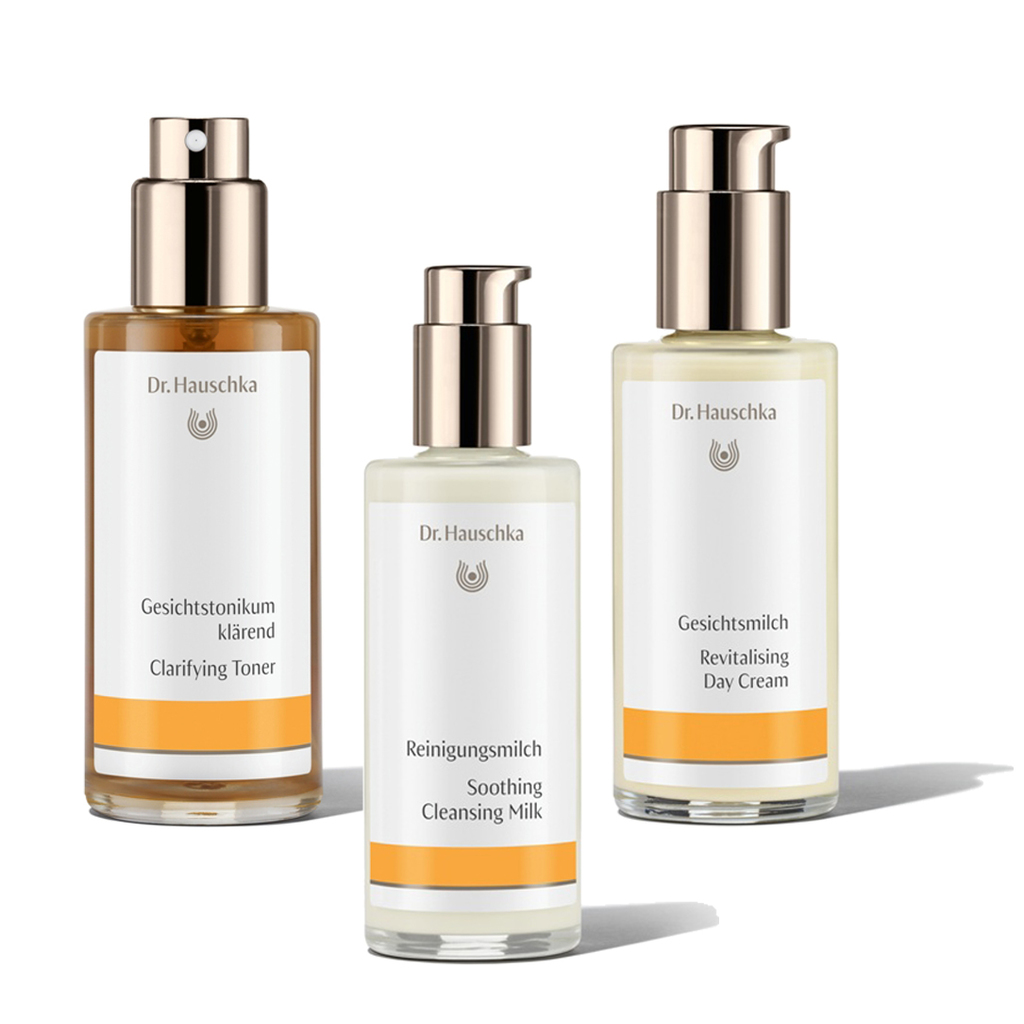 dr hauschka 3er pflege set kl rende reinigung naturkosmetik abelbeck. Black Bedroom Furniture Sets. Home Design Ideas