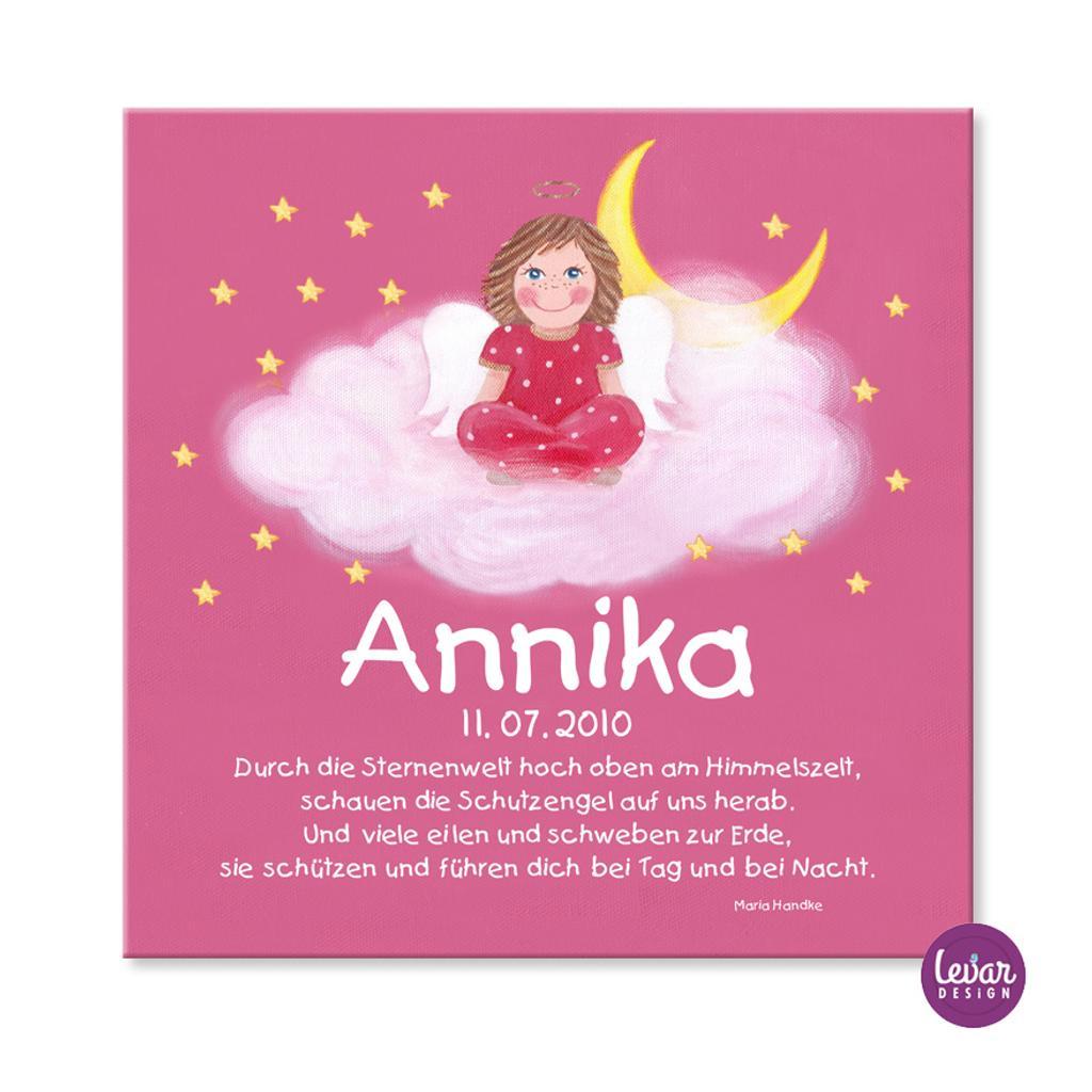 Schutzengelbild Mit Gedicht Anna Auf Wolke