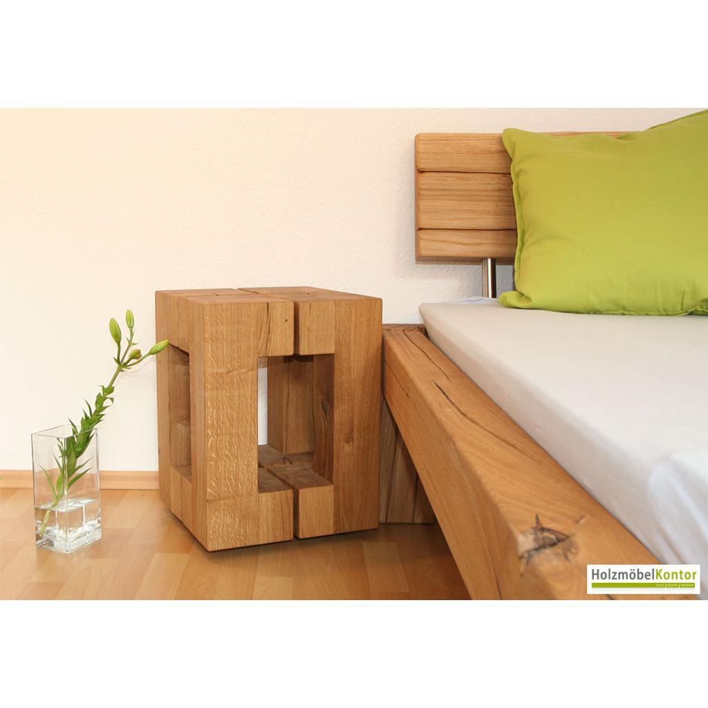 hocker beistelltisch eiche massiv. Black Bedroom Furniture Sets. Home Design Ideas
