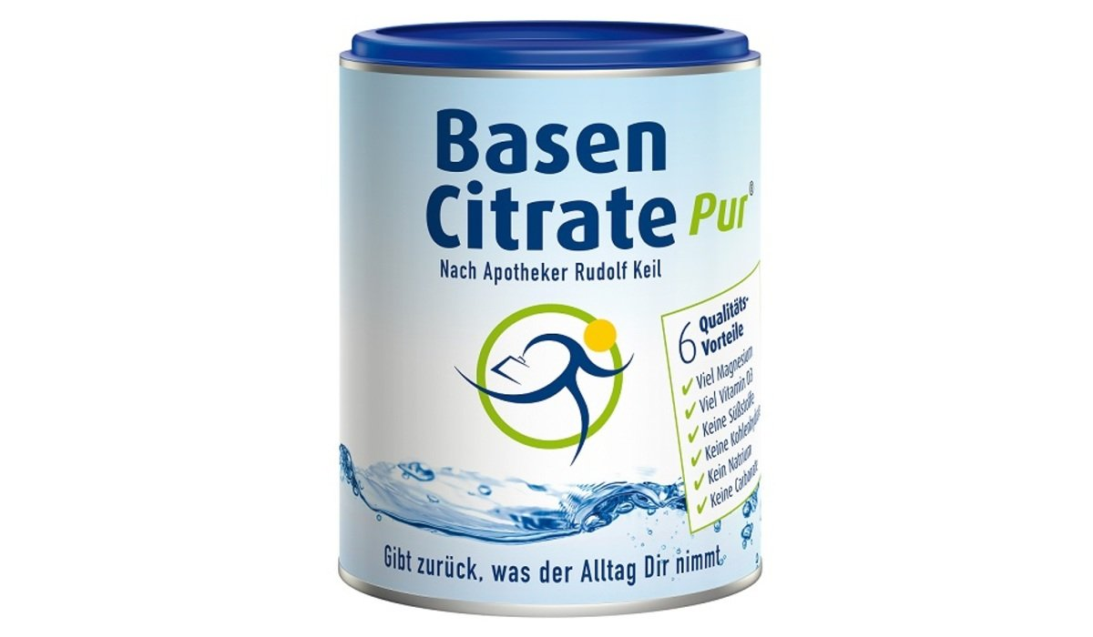 Basen Citrate pur - Pulver, 216g | Elektrolyte in Citratform