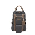 Par Avion Rucksack Travel - waxed denim / leather