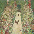 GUSTAV KLIMT: Garden path with Chickens