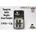 Tungsten Bullet Weights Green Pumpkin