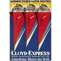 Lloyd Express Advertising Poster 1929