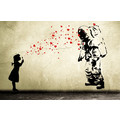 Wandtattoo ASTRONAUT Heart Bubble Girl Wandsticker Banksy Style