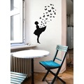 BUTTERFLY GIRL Banksy Wandsticker Schmetterlinge