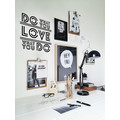 DO WHAT YOU LOVE Wandtattoo WallART Retro Sticker