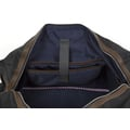 Par Avion weekender hidden case - waxed denim / leather