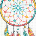 Dreamcatcher - borduurpakket met telpatroon Dimensions