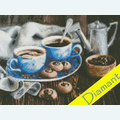 Coffee Romance - Diamond Painting pakket - Diamond Art Pakket met vierkante diamantjes