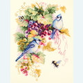 Blue Jay and Grapes - borduurpakket met telpatroon - Magic Needle