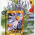 Summer Garden Flag - borduurpakket met telpatroon Janlynn