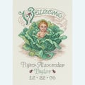 Cabbage Patch Baby Birth Announcement - borduurpakket met telpatroon Janlynn