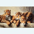 Leopards - borduurpakket met telpatroon Letistitch