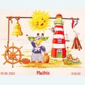 Happy Little Sailor - kruissteekpakket met telpatroon Vervaco