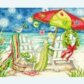 Christmas Beach Chairs - borduurpakket met telpatroon Dimensions