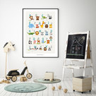 Poster Tieralphabet | ABC Poster sand |