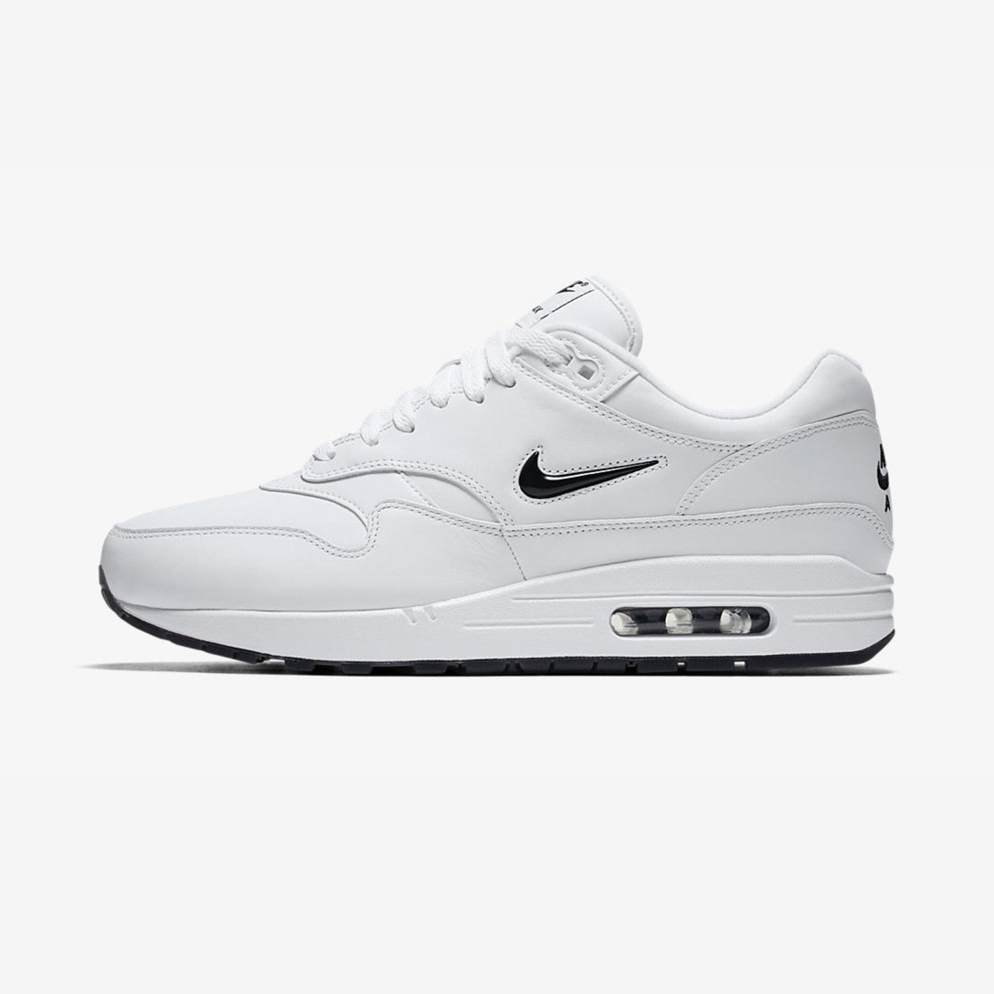 Nike Air Max 1 Jewel QS 'Black Diamond' White / Black 918354-103