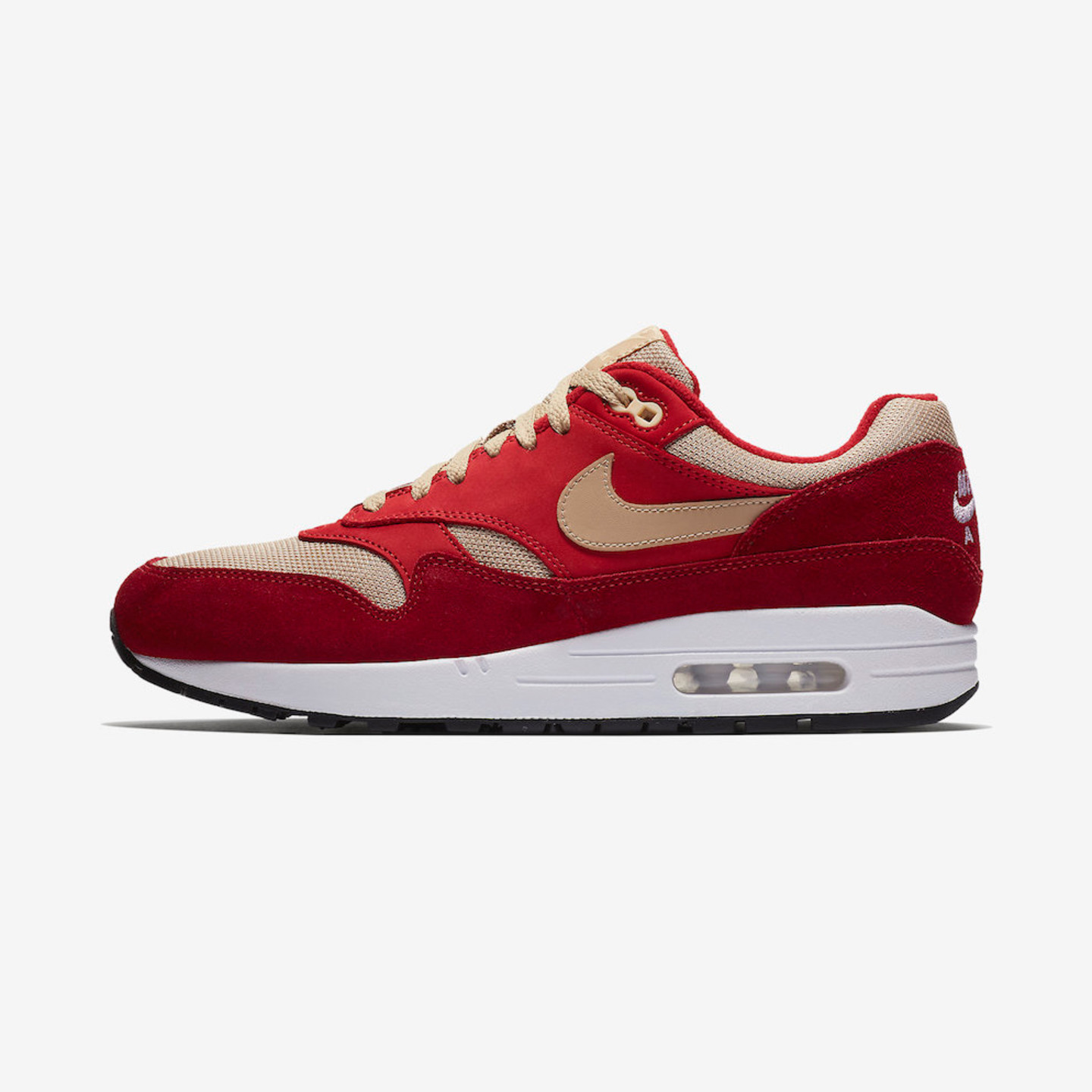 Nike Air Max 1 Premium Atmos 'Red Curry' Tough Red / Mushroom / Rush Red / Vanilla 908366-600