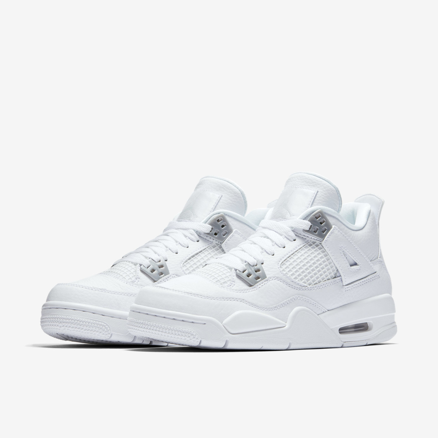 Jordan Air Jordan 4 Retro GS 'Pure Money' White / Silver / Pure Platinum 408452-100-39
