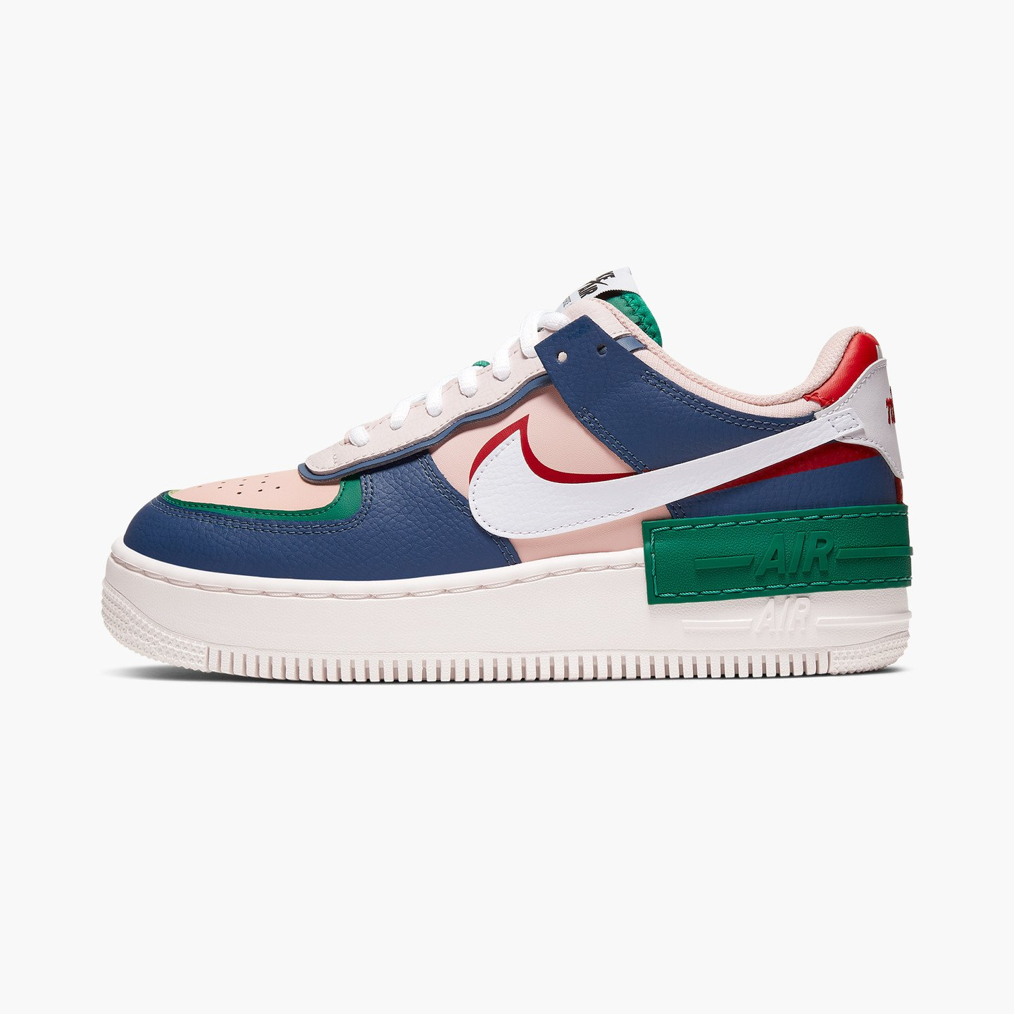 Nike Wmns Air Force 1 Shadow Mystic Navy / White / Echo Pink / Gym Red CI0919-400