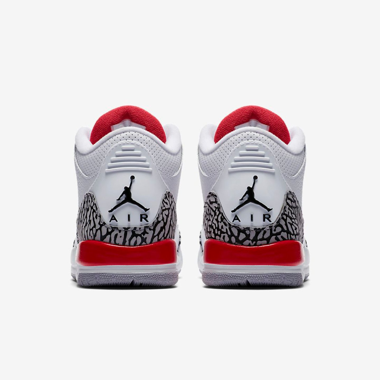 Jordan Air Jordan 3 Retro BG 'Katrina' White / Fire Red / Cement Grey / Black 398614-116