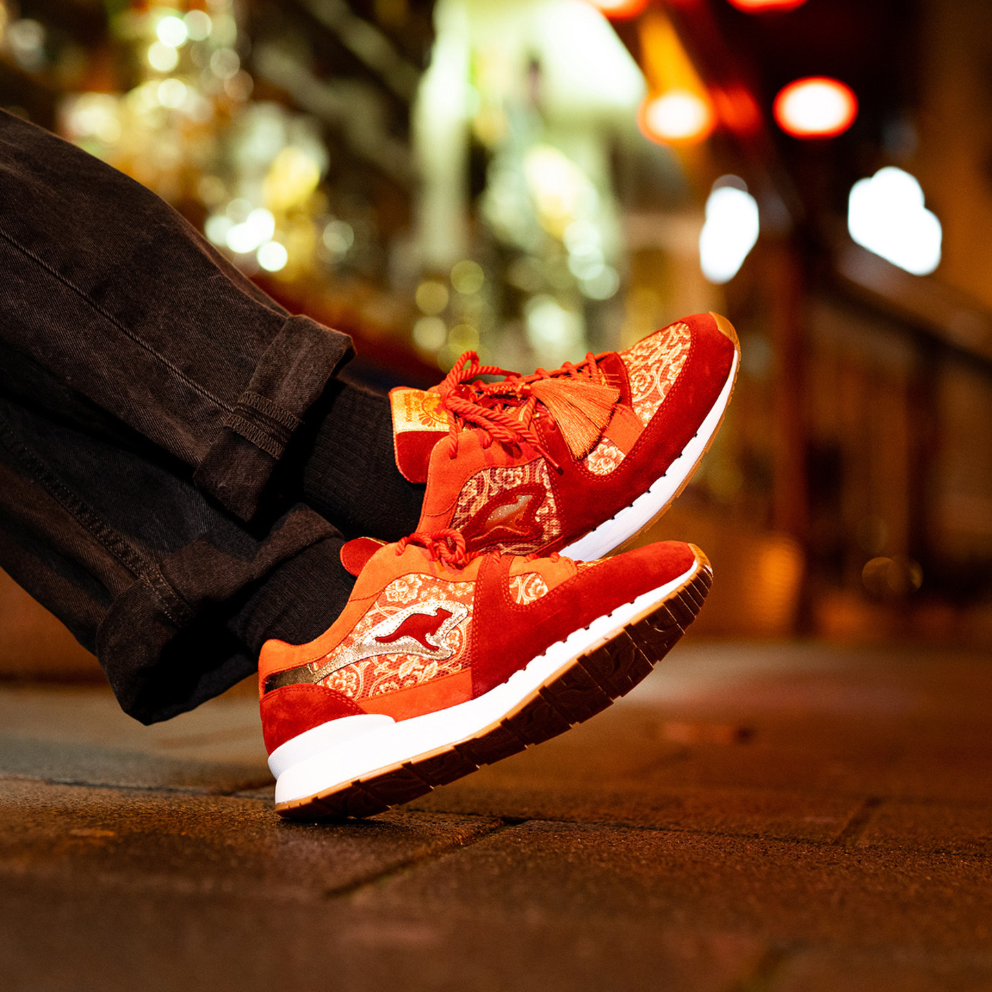 KangaROOS Coil R-1 'Chinese New Year' - Made in Germany Red / Metallic Gold 47CNY 000 6999