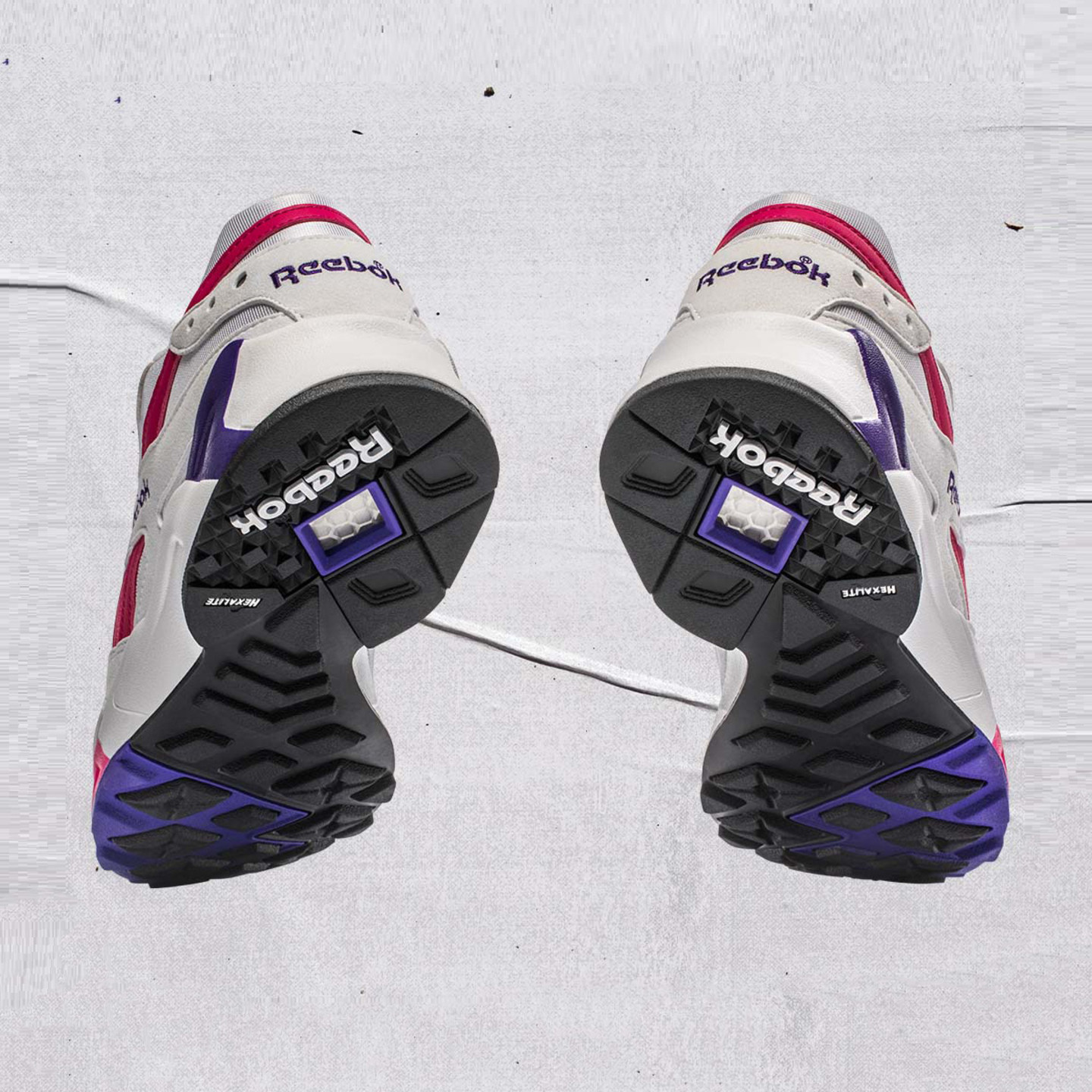 Reebok Aztrek OG White / Bright Rose / Crushed Cobalt / Team Purple CN7841
