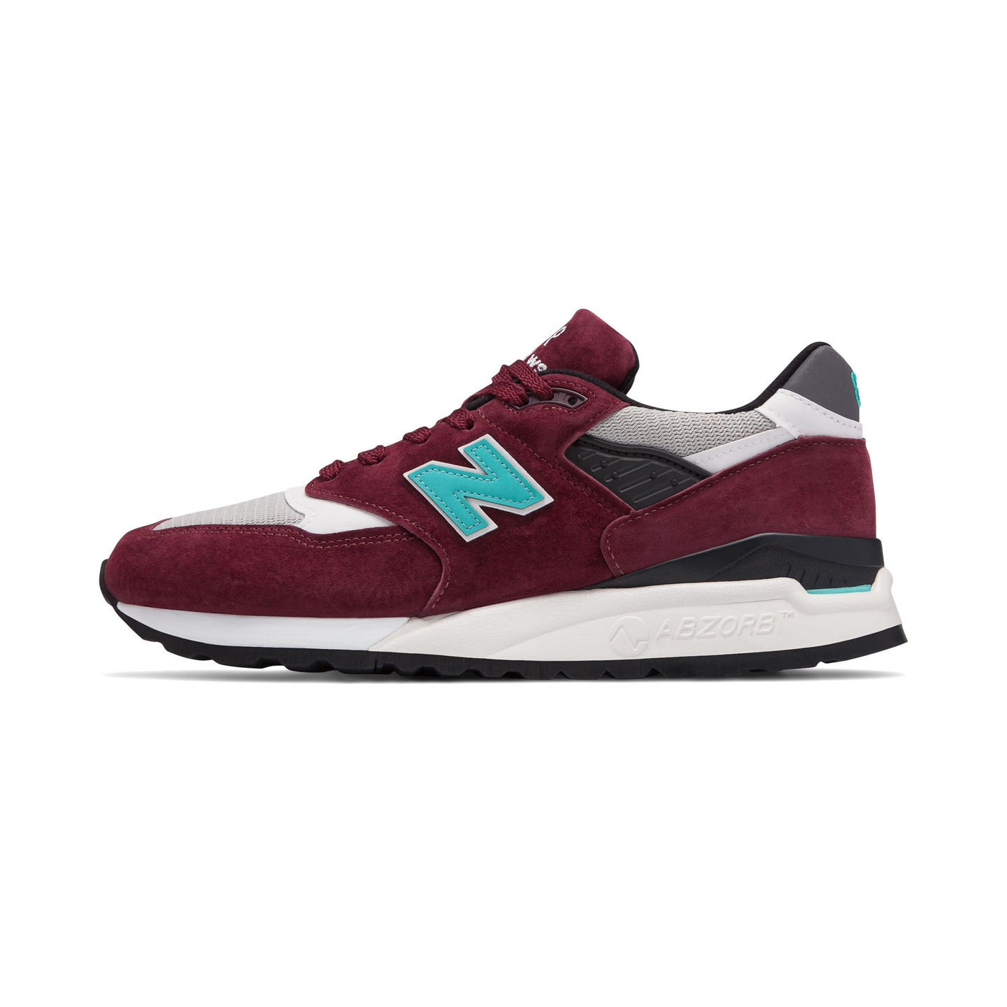 New Balance M998 - Made in USA Burgundy / Aqua M998AWC