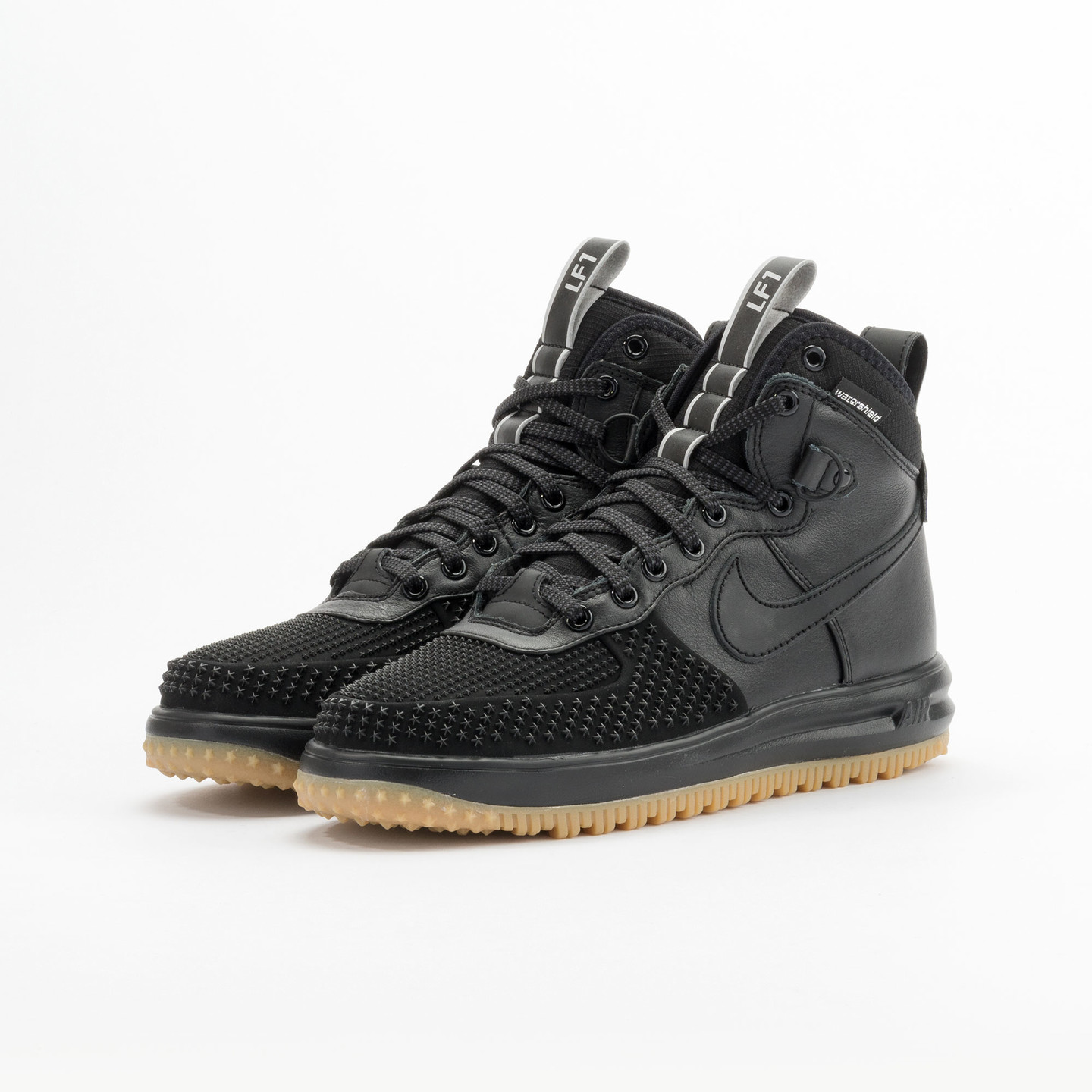 Nike Lunar Force 1 Duckboot Black / Black / Gum 805899-003-42