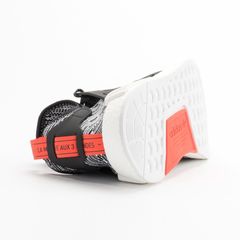 622968f05 Adidas NMD XR1 Primeknit Running White   Core Black   Semi Solar Red  S32216-42